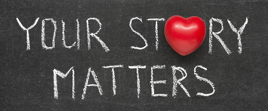 your story matters written on chalkboard